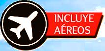 El paquete incluye aéreos